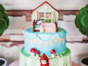amazing little red riding hood cake and fondant toppers