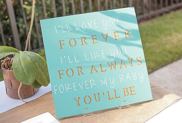 I'll Love You Forever Baby Shower Sign
