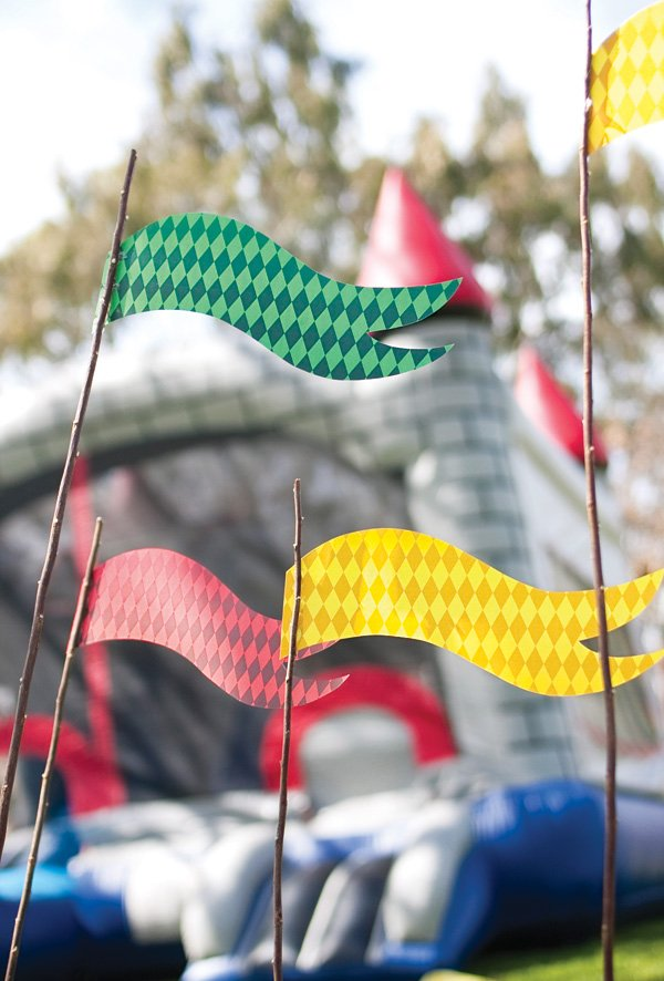 medieval party flags