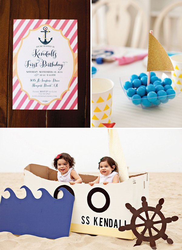 nautical first birthday
