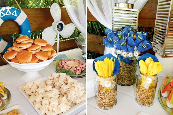 sponge bob and nautical food table