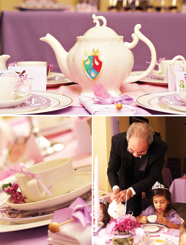 A princess tea party with royal prep academy teapot