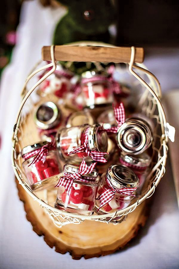 little red riding hood party - mini favor jars