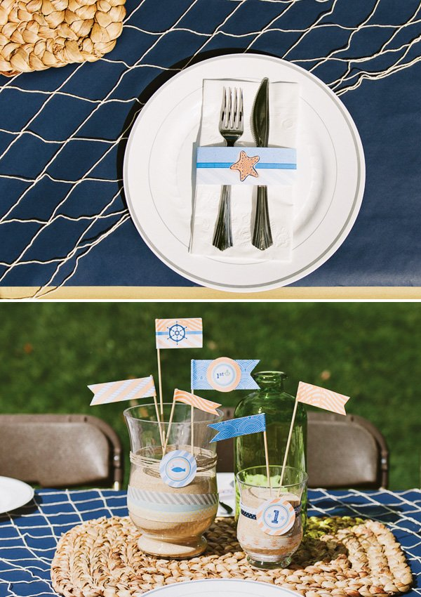 sailor themed centerpiece