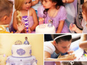 sofia the first royal birthday cake and fan decorating craft