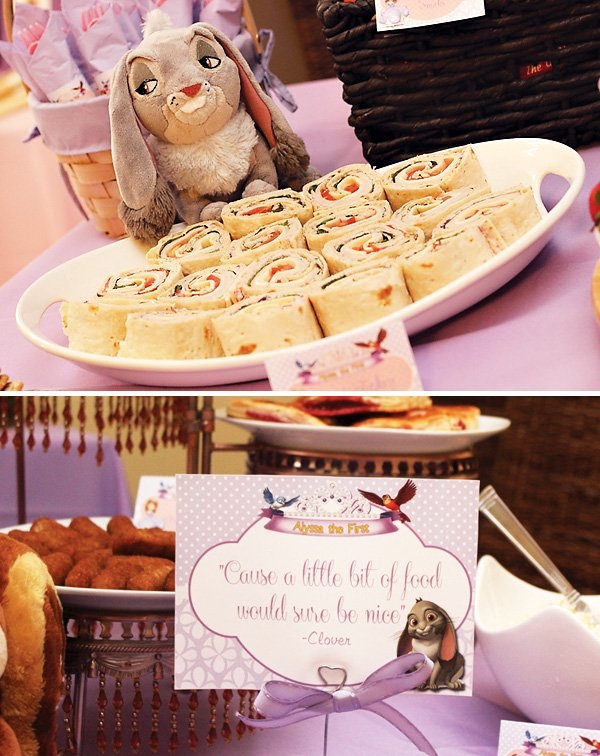 Clover the bunny tea party food