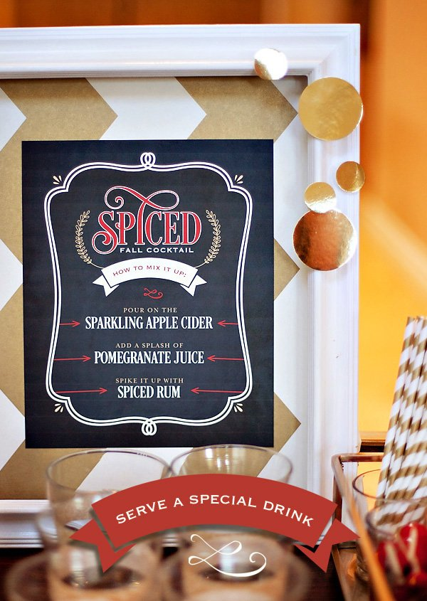 spiced fall cocktail menu sign free printable from hwtm