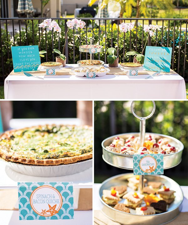 surf themed baby shower food ideas