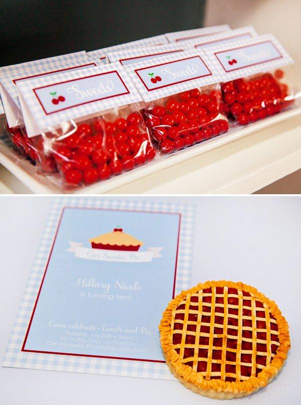 sweetie pie party invitation