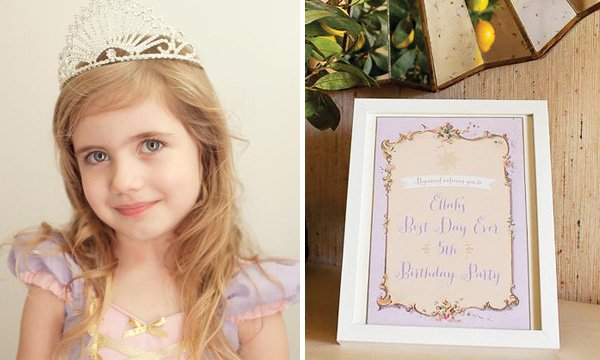 Tangled Birthday Party Costume and Welcome Sign