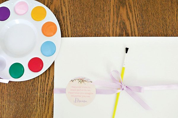 Tangled party painting activity