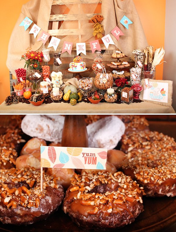 thanksgiving candy buffet with the hwtm grateful tree collection