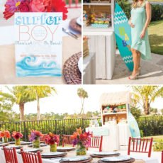 Gorgeous Tropical Surf Themed Baby Shower