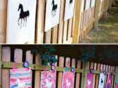 watercolor horse painting activity for a girl's birthday party