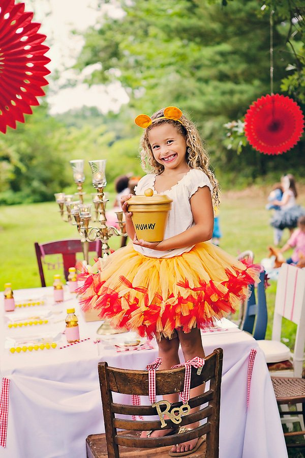Winnie the Pooh Party costumes and Hunny Pot