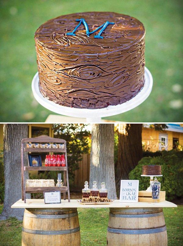 chocolate wood grain cake