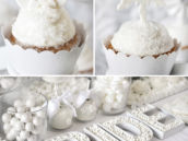 all white bridal shower or snowflake christmas party