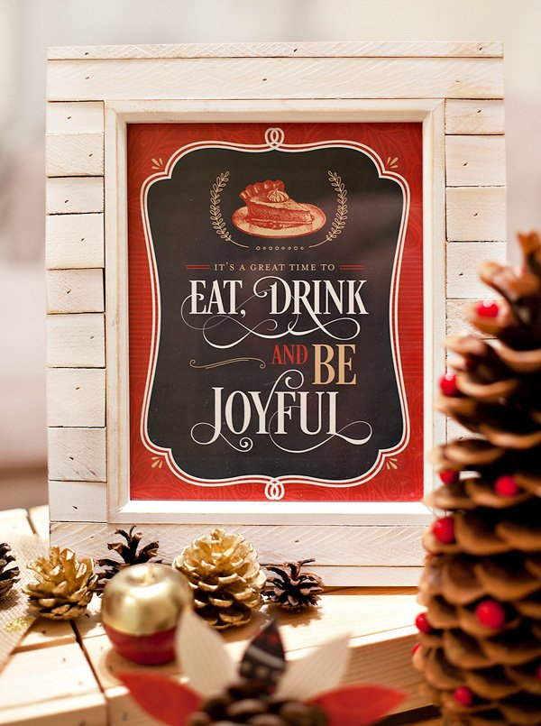 chalkboard christmas party print for hwtm - eat, drink and be joyful