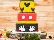 mickey mouse birthday cake - red yellow black
