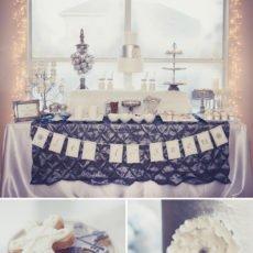 Silver and White Wonderland Dessert Table