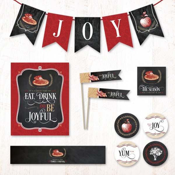 hostess ink from hwtm rustic joy - eat, drink and be joyful christmas printables collection