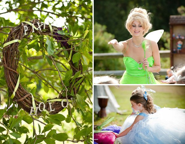 pixie's hollow with tinkerbell for a peter pan birthday