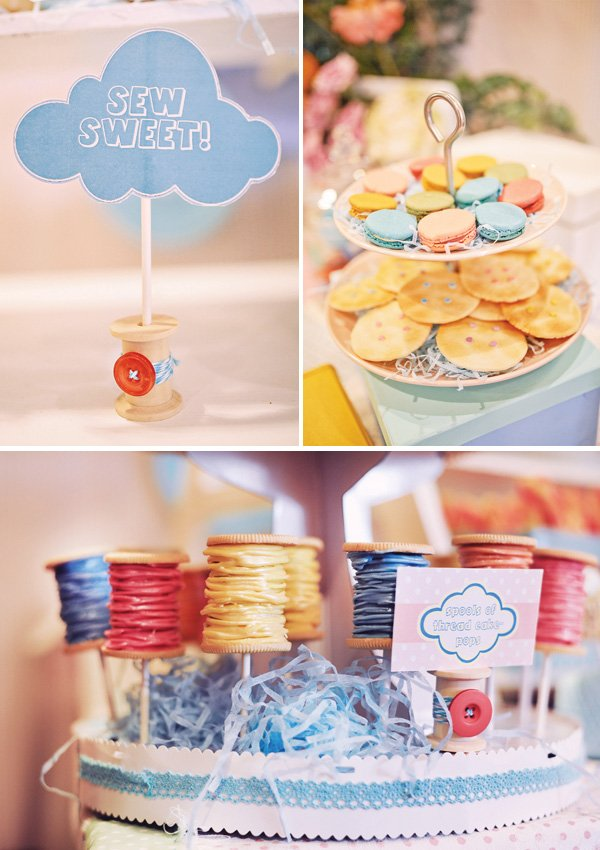 spool of thread cake pops
