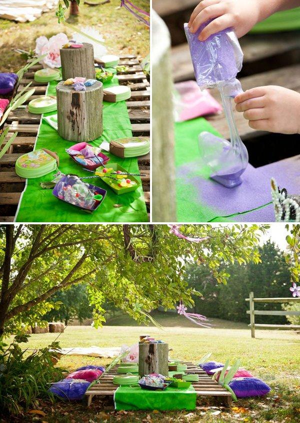pixie fairy dust sand art activity for a peter pan birthday