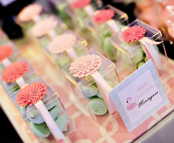 boxed mint chocolate chip meringue party favors