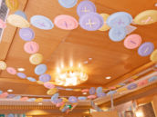 diy button party garland made from paper plates