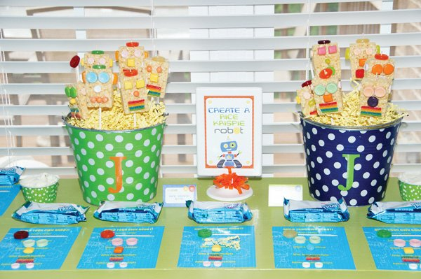 make a rice krispie robot activity