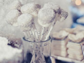 silver and white marshmallow pops
