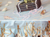 the little mermaid under the sea party seashell decorations and treaure chest