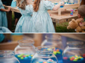 blue jello fishbowls as peter pan party treats