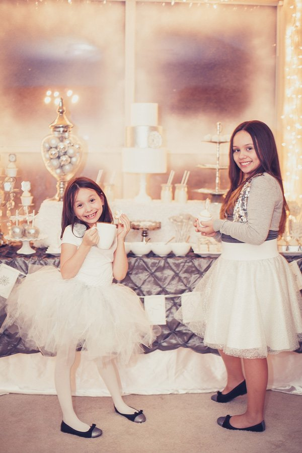 silver and white winter wonderland party