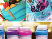 the little mermaid under the sea party cake and party favors