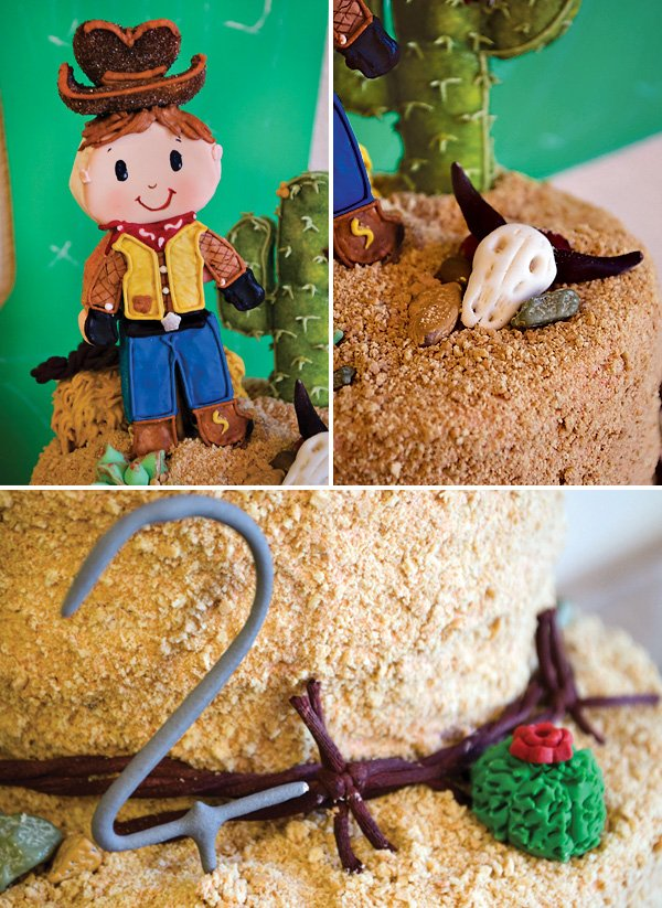 sandy desert cowboy cake for a western outllaw birthday party