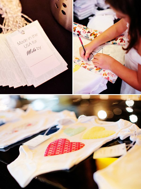 diy iron on onesie activity for guests to decorate for the baby