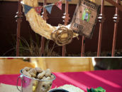 straw wreath and western table decor