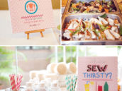 cute as a button party food and drinks