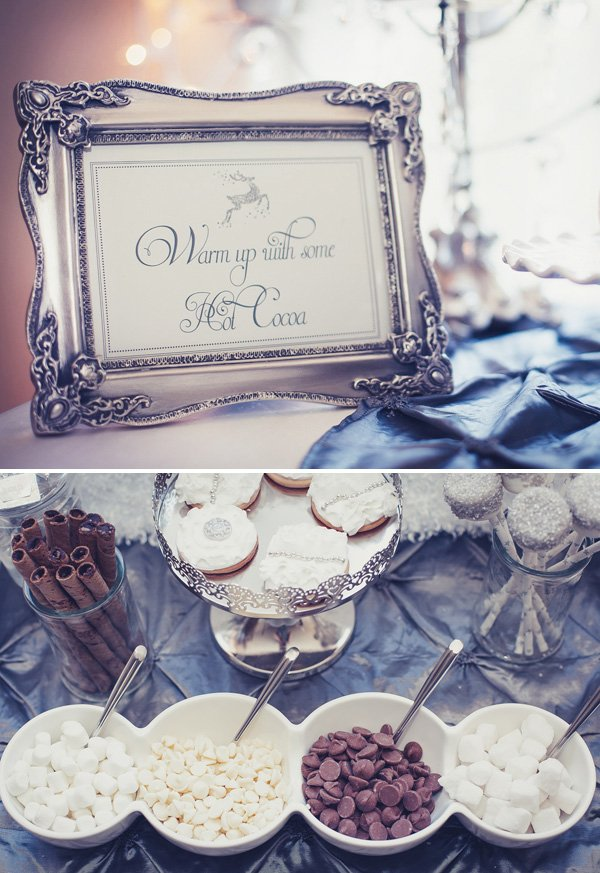 silver and white cocoa bar sign