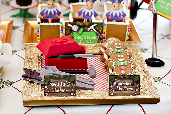 santa's workshop party treats