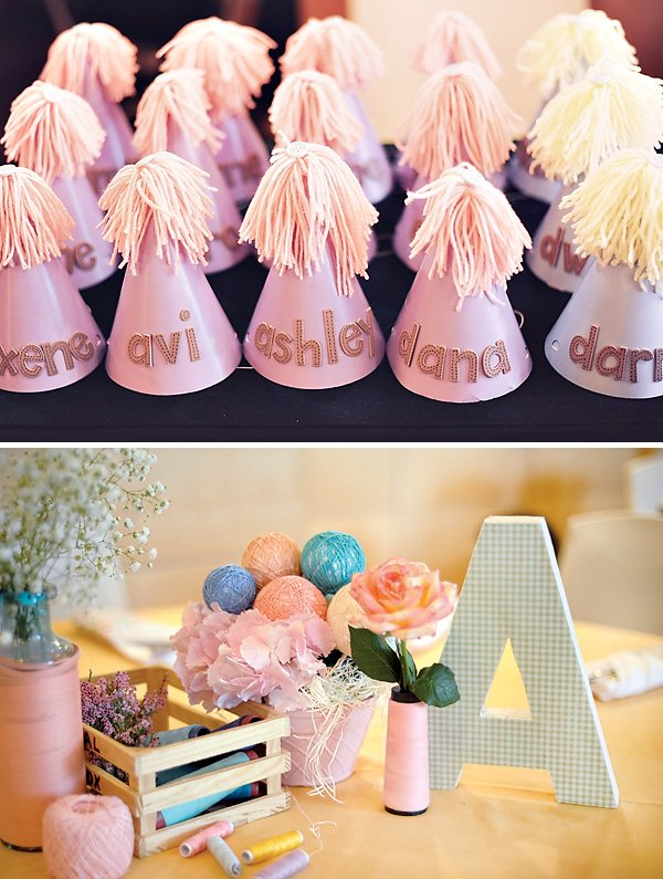 diy cute as a button birthday hats