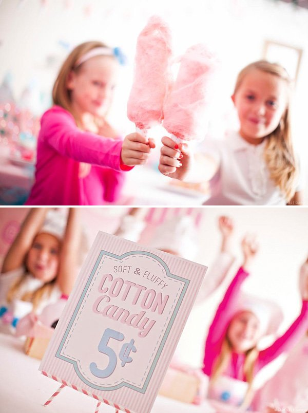 cotton candy shoppe printables for a birthday party