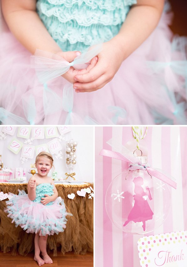 sugar plum fairy tutu costume with rag tie tulle in pink and blue