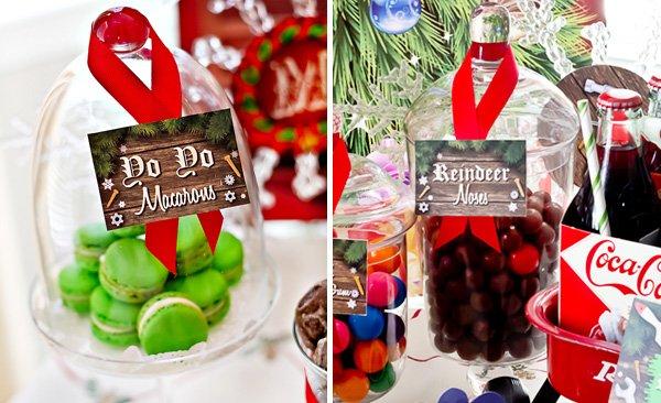 christmas treats - reindeer noses and macaron yo yos