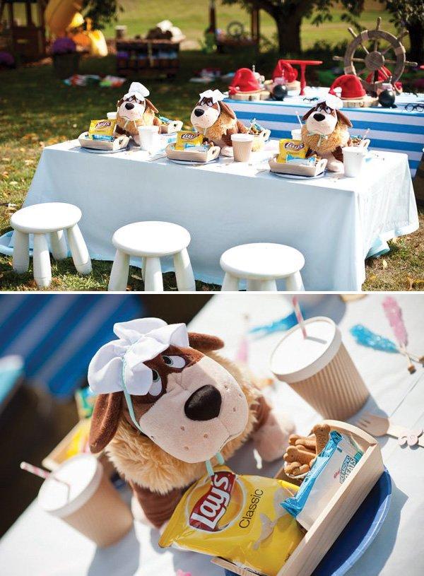 nana the dog table at a peter pan birthday party