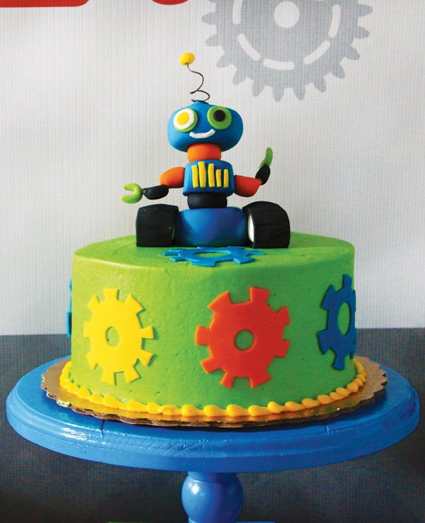 Colorful & Creative Robot Birthday Party // Hostess with ...