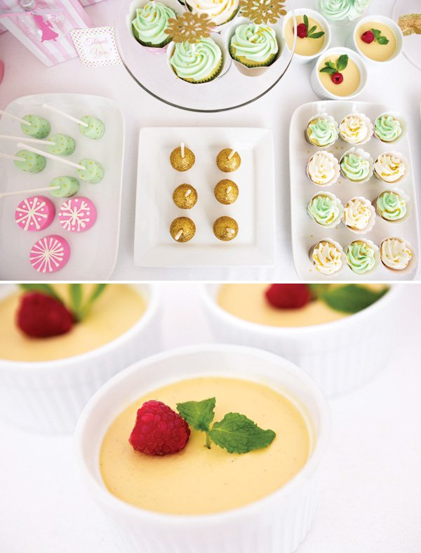 Christmas desserts like creme brûlée, cake pops and cupcakes