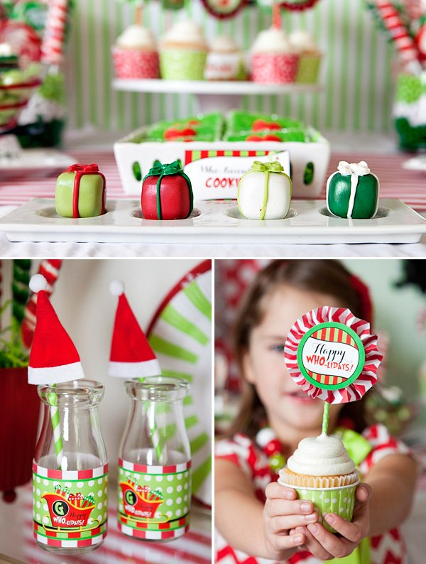 grinch inspired red and green christmas treats